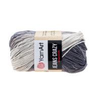 Yarn Art Jeans Crazy 8204 cieniowana kolorowa włóczka do amigurumi. 50 g włóczki to 160m przędy od tureckiego producenta.
