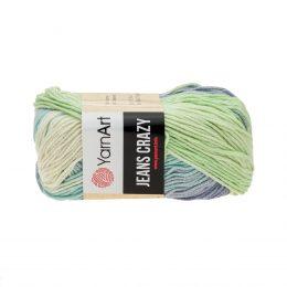Yarn Art Jeans Crazy 8208 cieniowana kolorowa włóczka do amigurumi. 50 g włóczki to 160m przędy od tureckiego producenta.