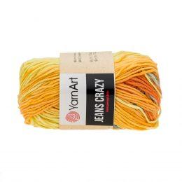 Yarn Art Jeans Crazy 8210 cieniowana kolorowa włóczka do amigurumi. 50 g włóczki to 160m przędy od tureckiego producenta.
