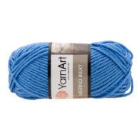 Yarn Art Merino Bulky 600 w kolorze niebieskim to cieplutka wełniano-akrylowo włóczka idealna na czapki, swetry, szale czy koce.