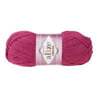 Alize Cotton Gold 649 rubin. Bawełniano-akrylowa miękka włóczka o przyjemnym skręcie. Idealna na zabawki amigirumi i odzież wiosenno-letnią.