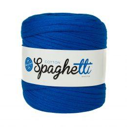 Cotton Spaghetti t-shirtowy kobaltowy to recyklingowy bawełniany sznurek do dziergania puf, koszyków, dywanów, plecaków i torebek.