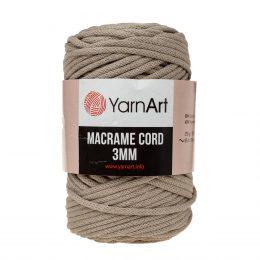 Włóczka Yarn Art Macrame Cord 3mm 768 lniany to 60% bawełny i 40% poliestru i wiskozy . Jej najbardziej charakterystyczną cechą jest przędzona struktura
