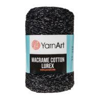 Włóczka Yarn Art Macrame Cotton Lurex 723 to błyszcząca wersja Macrame Cotton. Jej najbardziej charakterystyczną cechą jest przędzona struktura.
