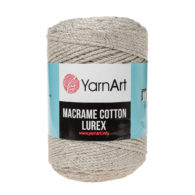 Włóczka Yarn Art Macrame Cotton Lurex 725 to błyszcząca wersja Macrame Cotton. Jej najbardziej charakterystyczną cechą jest przędzona struktura.