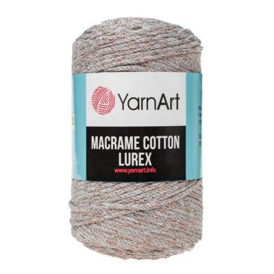 Włóczka Yarn Art Macrame Cotton Lurex 727 to błyszcząca wersja Macrame Cotton. Jej najbardziej charakterystyczną cechą jest przędzona struktura.