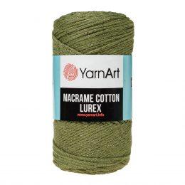 Włóczka Yarn Art Macrame Cotton Lurex 741 to błyszcząca wersja Macrame Cotton. Jej najbardziej charakterystyczną cechą jest przędzona struktura.