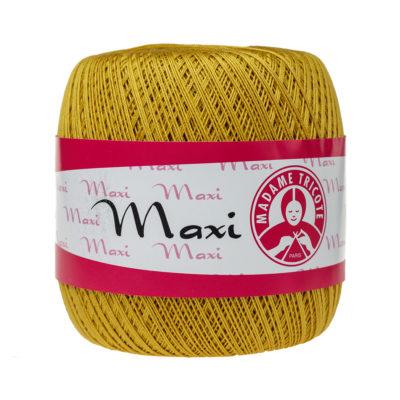 Madame Tricote Paris Maxi 4940, kolor musztardowy. Jest to 100% bawełna merceryzowana w czarnym kolorze. Idealny na świąteczne ozdoby