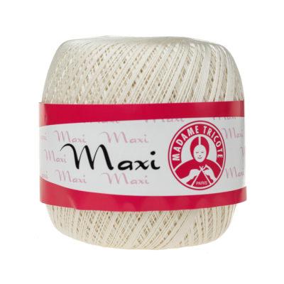 Madame Tricote Paris Maxi 6282, kolor jasny beż. Jest to 100% bawełna merceryzowana w czarnym kolorze. Idealny na świąteczne ozdoby