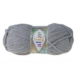 Alize Softy Plus 296 szary mięciutka włochata włóczka idealna na maskotki, szale, poduchy i koce. Struktura trawki daje piękny fantazyjny efekt.