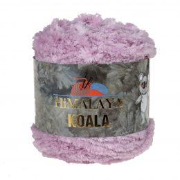Włóczka Himalaya Koala 75716 liliowyto w 100% mikro poliestru. Jej najbardziej charakterystyczną cechą jest włochata struktura.