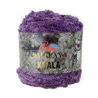 Włóczka Himalaya Koala 75717 fioletto w 100% mikro poliestru. Jej najbardziej charakterystyczną cechą jest włochata struktura.