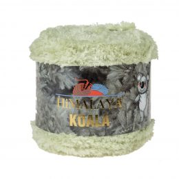 Włóczka Himalaya Koala 75722 pistacjato w 100% mikro poliestru. Jej najbardziej charakterystyczną cechą jest włochata struktura.