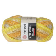 Włóczka Yarn Art Alpine Angora Melange 433to bardzo miękka i niezwykle ciepła mieszanka wełny i akrylu. Paleta włóczki posiada piękne melanżowe kolory