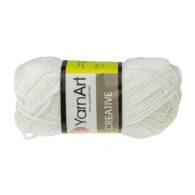 Yarn Art Creative 220 biały. 100% bawełny od kultowego tureckiego producenta, w przyjaznej cenie:) Idealna na zabawki i ubrania.