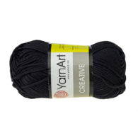 Yarn Art Creative 221 czarny. 100% bawełny od kultowego tureckiego producenta, w przyjaznej cenie:) Idealna na zabawki i ubrania.