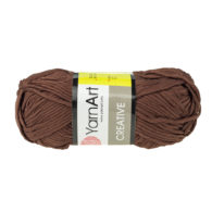 Yarn Art Creative 232 brązowy. 100% bawełny od kultowego tureckiego producenta, w przyjaznej cenie:) Idealna na zabawki i ubrania.