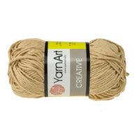 Yarn Art Creative 233 ciepły beż. 100% bawełny od kultowego tureckiego producenta, w przyjaznej cenie:) Idealna na zabawki i ubrania.
