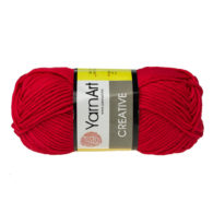 Yarn Art Creative 237 czerwony. 100% bawełny od kultowego tureckiego producenta, w przyjaznej cenie:) Idealna na zabawki i ubrania.
