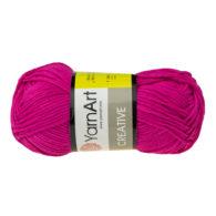 Yarn Art Creative 243 malinowy. 100% bawełny od kultowego tureckiego producenta, w przyjaznej cenie:) Idealna na zabawki i ubrania.