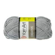 Yarn Art Creative 244 szary. 100% bawełny od kultowego tureckiego producenta, w przyjaznej cenie:) Idealna na zabawki i ubrania.