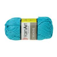Yarn Art Creative 247 turkusowy. 100% bawełny od kultowego tureckiego producenta, w przyjaznej cenie:) Idealna na zabawki i ubrania.