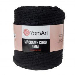 Włóczka Yarn Art Macrame Cord 5mm 750 czarnyto 60% bawełny i 60% poliestru i wiskozy . Jej najbardziej charakterystyczną cechą jest przędzona struktura.