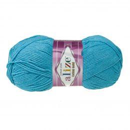 Alize Cotton Gold 287 niebieski. Bawełniano-akrylowa miękka włóczka o przyjemnym skręcie. Idealna na zabawki amigirumi i odzież wiosenno-letnią.