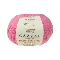 Gazzal Baby Cotton 3468 róż to bawełniano-akrylowa włóczka występująca w wielu pięknych kolorach, idealna do amigurumi.