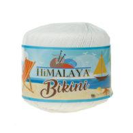 Włóczka Himalaya Bikini 80601 biały stworzona z poliamidu idealnie nadaje się na stroje kąpielowe, bieliznę czy letnie ubrania. 50g/165m