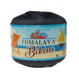 Włóczka Himalaya Bikini 80612 czarny poliamidu idealnie nadaje się na stroje kąpielowe, bieliznę czy letnie ubrania. 50g/165m
