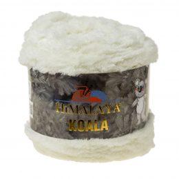 Włóczka Himalaya Koala 75724 krem to w 100% mikro poliestru. Jej najbardziej charakterystyczną cechą jest włochata struktura.
