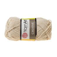 Yarn Art Creative 223 beż. 100% bawełny od kultowego tureckiego producenta, w przyjaznej cenie:) Idealna na zabawki i ubrania.