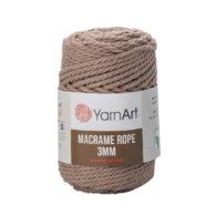 Włóczka Yarn Art Macrame Rope 3mm 768 - luźno skręcany sznurek idealny do makramy i modnych makramowych piórek. W 250g znajdziemy 63m.