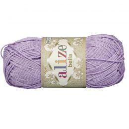 Włóczka Alize Bella 158 w kolorze liliowym. 100% bawełny. Naturalna propozycja do amigurumi. Długość metrów w motku to aż 180!:)