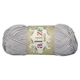 Włóczka Alize Bella 21 w kolorze szarym. 100% bawełny. Naturalna propozycja do amigurumi. Długość metrów w motku to aż 180!:)