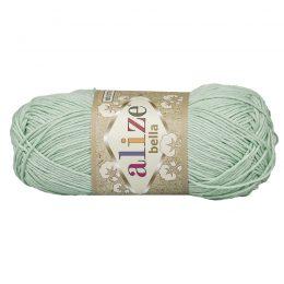 Włóczka Alize Bella 266 w kolorze miętowym. 100% bawełny. Naturalna propozycja do amigurumi. Długość metrów w motku to aż 180!:)
