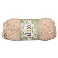 Włóczka Alize Bella 417 w kolorze łososiowego różu. 100% bawełny. Naturalna propozycja do amigurumi. Długość metrów w motku to aż 180!:)