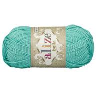 Włóczka Alize Bella 477 w kolorze turkusu. 100% bawełny. Naturalna propozycja do amigurumi. Długość metrów w motku to aż 180!:)