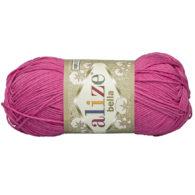 Włóczka Alize Bella 489 w kolorze fuksji. 100% bawełny. Naturalna propozycja do amigurumi. Długość metrów w motku to aż 180!:)