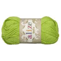 Włóczka Alize Bella 612 w kolorze groszkowym. 100% bawełny. Naturalna propozycja do amigurumi. Długość metrów w motku to aż 180!:)