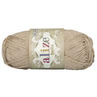 Włóczka Alize Bella 76 w kolorze beżowym. 100% bawełny. Naturalna propozycja do amigurumi. Długość metrów w motku to aż 180!:)