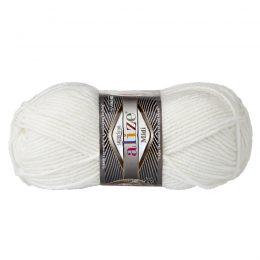 Włóczka Alize Superlana Midi 55 biały to ciepła i miękka mieszanka wełniano-akrylowa. Paleta włóczki posiada piękne jesienno-zimowe kolory. 100g/170m