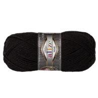 Włóczka Alize Superlana Midi 60 czarny to ciepła i miękka mieszanka wełniano-akrylowa. Paleta włóczki posiada piękne jesienno-zimowe kolory. 100g/170m