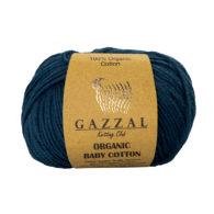 Gazzal Organic Baby Cotton 437 navy to włóczka z bawełny organicznej występująca w wielu pięknych kolorach, idealna dla dzieci.