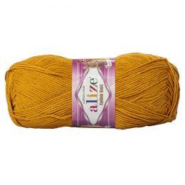 Alize Cotton Gold 02 szafran. Bawełniano-akrylowa miękka włóczka o przyjemnym skręcie. Idealna na zabawki amigirumi i odzież wiosenno-letnią.