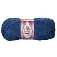 Alize Cotton Gold 279 jeans. Bawełniano-akrylowa miękka włóczka o przyjemnym skręcie. Idealna na zabawki amigirumi i odzież wiosenno-letnią.