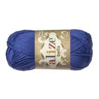 Włóczka Alize Bella 333 w kolorze chabru. 100% bawełny. Naturalna propozycja do amigurumi. Długość metrów w motku to aż 180!:)