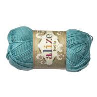 Włóczka Alize Bella 462 w kolorze mięty. 100% bawełny. Naturalna propozycja do amigurumi. Długość metrów w motku to aż 180!:)