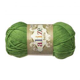 Włóczka Alize Bella 492 w kolorze trawiastym. 100% bawełny. Naturalna propozycja do amigurumi. Długość metrów w motku to aż 180!:)